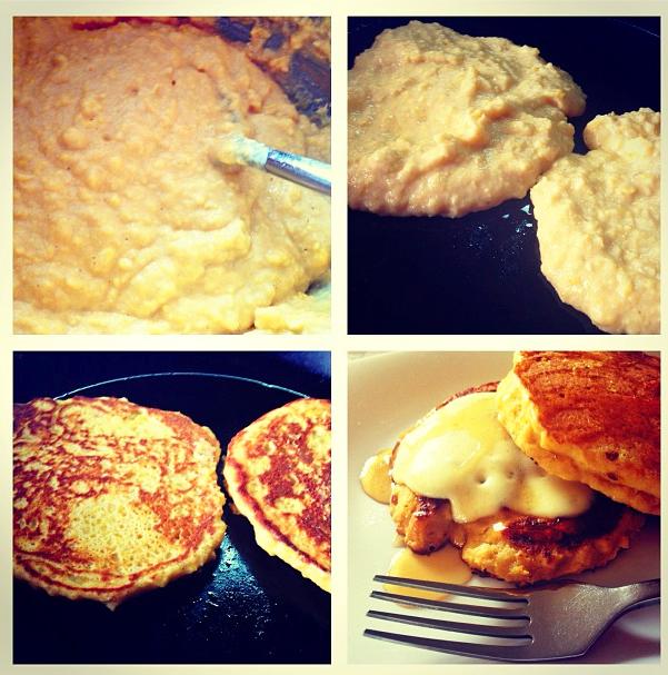 pancakes de maízgrande