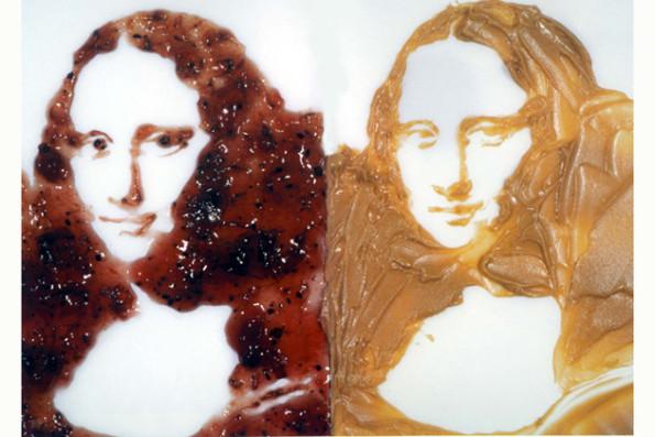 Mona Lisa  doble (mantequilla de maní y mermelada). Serie: Después de Warhol, 1999.