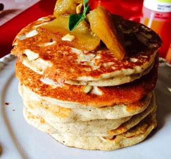 apple pancake tower