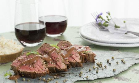 lomo de res en salsa de vino tinto el condimentario de margarita